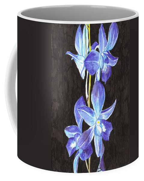 Orchids Coffee Mug featuring the painting A Spray Of Orchids by Alexis Grone