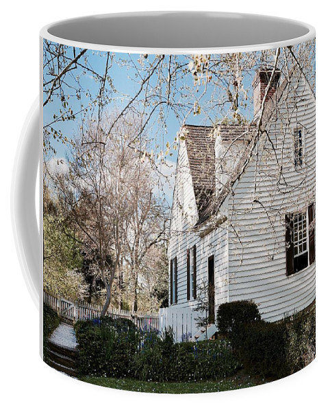 Williamsburg Coffee Mug featuring the photograph A Spring Day In Colonial Williamsburg by Rachel Morrison