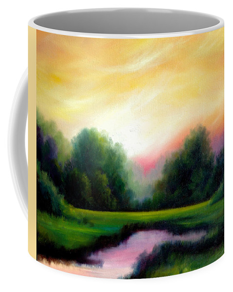 Clouds Coffee Mug featuring the painting A Spring Evening by James Christopher Hill