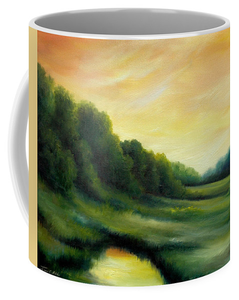Clouds Coffee Mug featuring the painting A Spring Evening Part Two by James Christopher Hill
