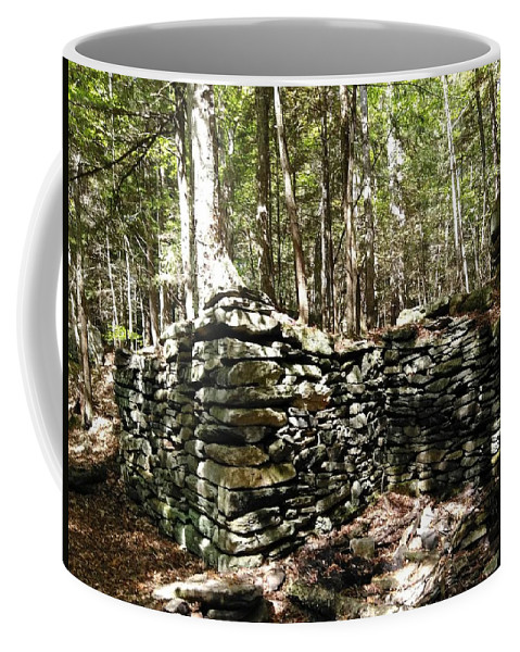 Stoneworks Coffee Mug featuring the photograph A Stone Structure In The Berkshire Hills by Sandy Gorton Houseman