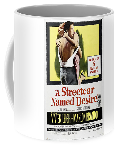 A Streetcar Coffee Mug featuring the painting A Streetcar Named Desire Portrait Poster by R Muirhead Art