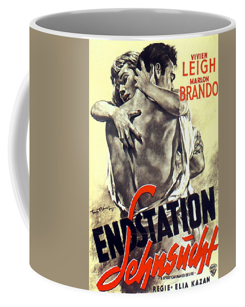 A Streetcar Coffee Mug featuring the painting A Streetcar Named Desire Stylish European Portrait Poster by R Muirhead Art