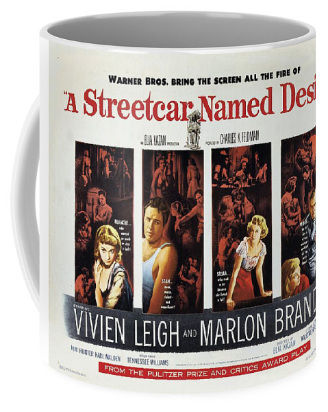 A Streetcar Coffee Mug featuring the painting A Streetcar Named Desire Wide Poster by R Muirhead Art