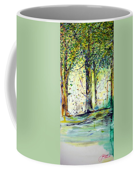 Trees Coffee Mug featuring the painting A Stroll On East 93rd by Jack Diamond
