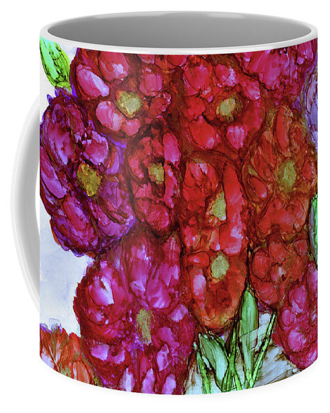 Bouquet. Flowers Coffee Mug featuring the painting A Summer Bouquet by Eunice Warfel