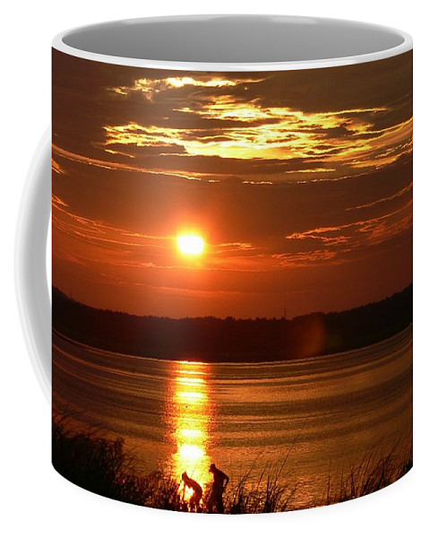 Sunset Coffee Mug featuring the photograph A Summer Days End by Nancie DeMellia