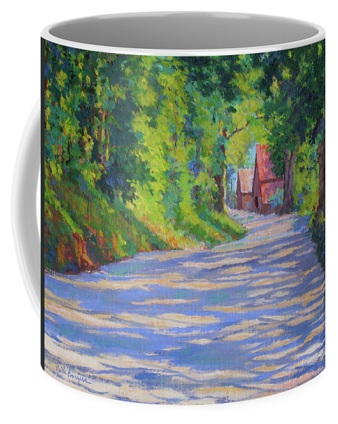 Landscape Coffee Mug featuring the painting A Summer Road by Keith Burgess