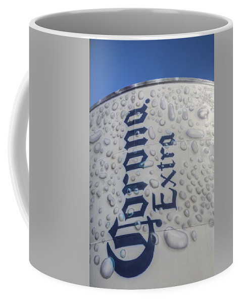 Corona Extra Coffee Mug featuring the photograph A Tall Cold One by Steve Gravano
