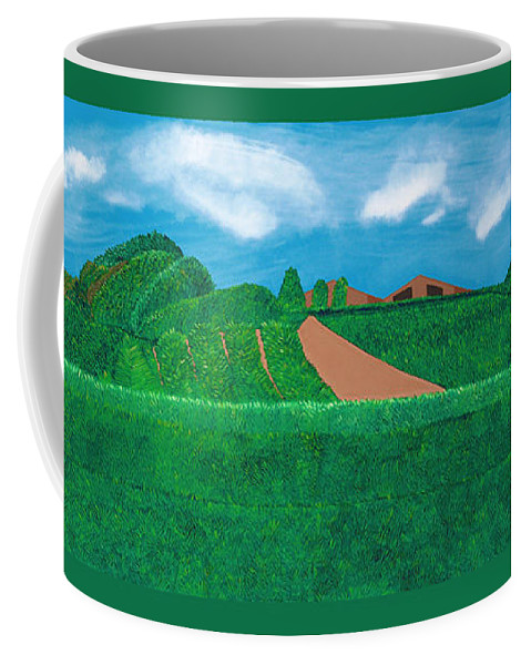 Landscape Coffee Mug featuring the painting A Taste Of Tuscany by Synthia SAINT JAMES