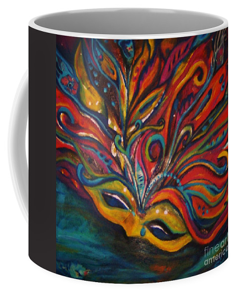 New Orleans Coffee Mug featuring the painting A Tear For New Orleans by Sidra Myers