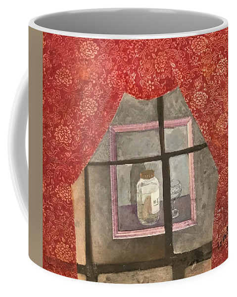 Abstract Coffee Mug featuring the painting A Toast by Leah Tomaino