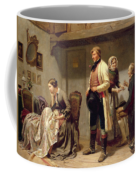 Toast Coffee Mug featuring the painting A Toast To The Engaged Couple by Carl Wilhelm Huebner