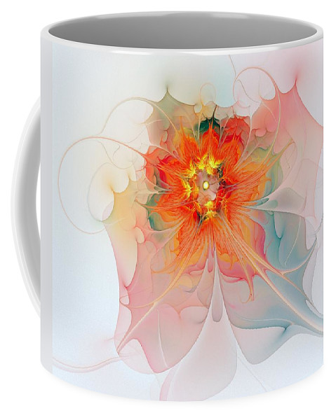 Digital Art Coffee Mug featuring the digital art A Touch Of Spring by Amanda Moore