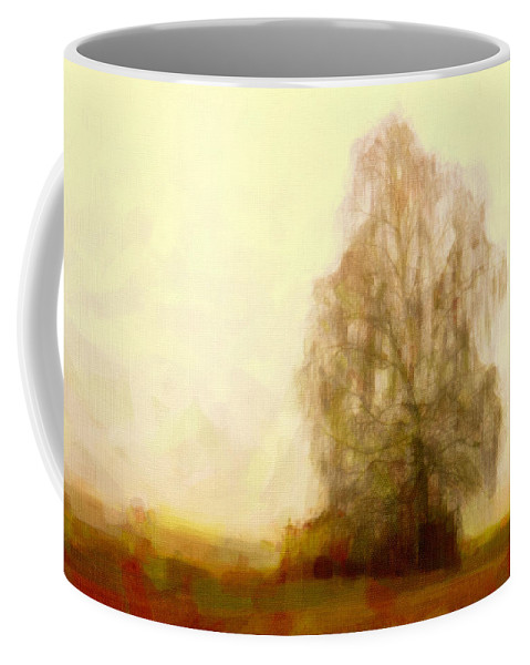 Landscape Coffee Mug featuring the painting A Tree by Chris Armytage