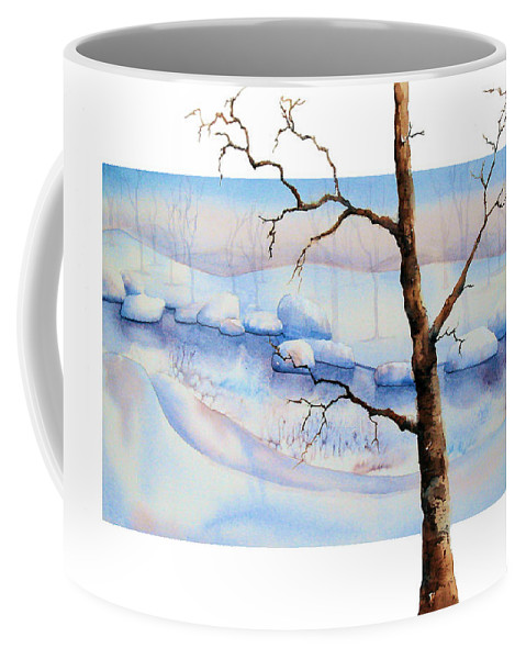Tree Coffee Mug featuring the painting A Tree In Another Dimension by Debbie Lewis