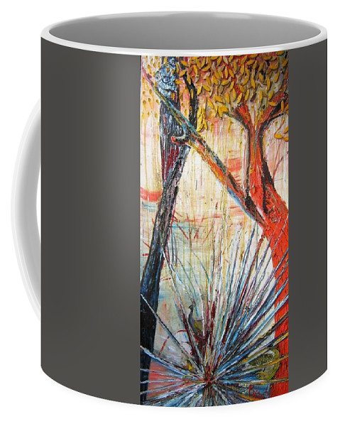 Trees Coffee Mug featuring the painting A Tribute by Peggy Blood