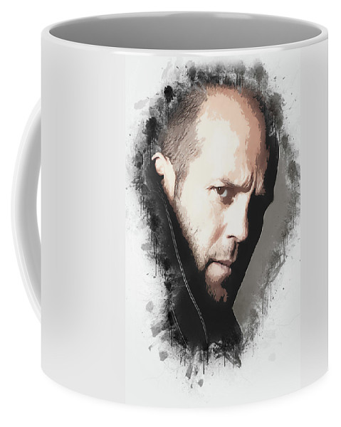 Movies Coffee Mug featuring the digital art A Tribute to JASON STATHAM by Dusan Naumovski