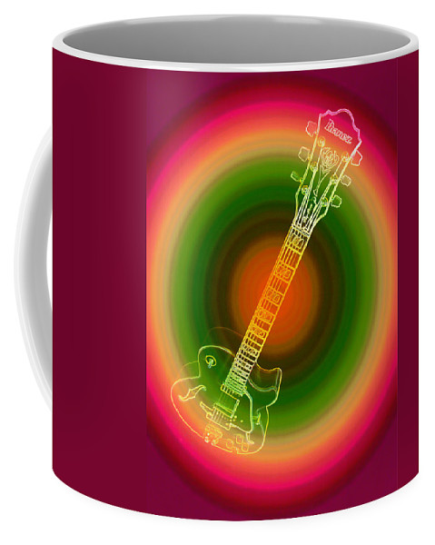 Guitar Coffee Mug featuring the photograph A Trip To 1960 by Donna Blackhall
