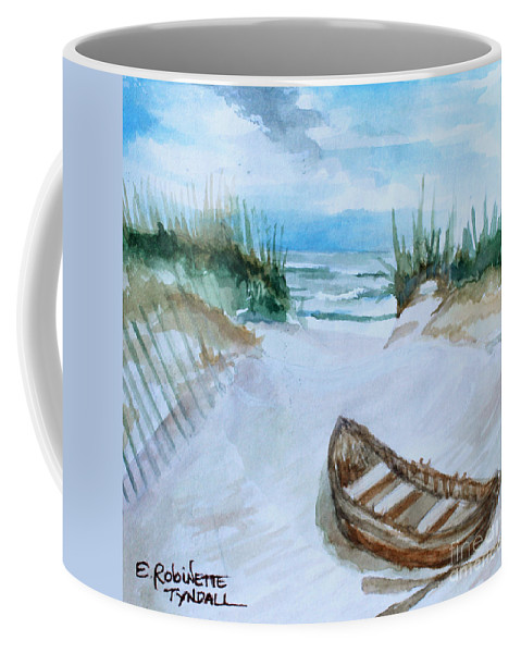 Landscape Coffee Mug featuring the painting A Trip To The Beach by Elizabeth Robinette Tyndall
