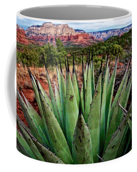 Nature Coffee Mug featuring the photograph A Very Pointed, Point of View, Sedona, Arizona by Zayne Diamond Photographic
