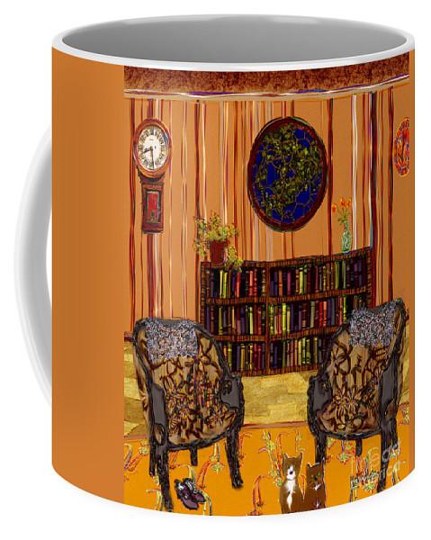 Folk Art Coffee Mug featuring the painting A Victorian Horror by RC deWinter