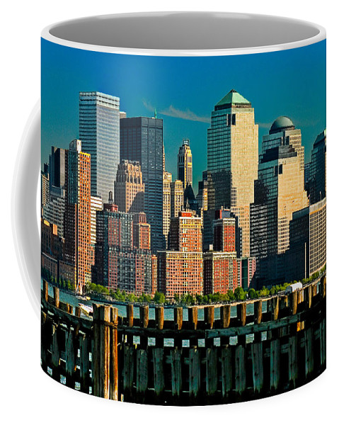 Manhattan Coffee Mug featuring the photograph A View From Hoboken by Chris Lord