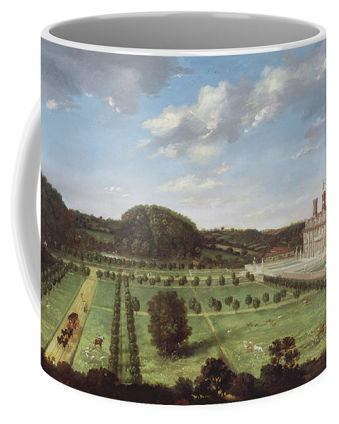 View Coffee Mug featuring the painting A View Of Bayhall - Pembury by Jan Siberechts