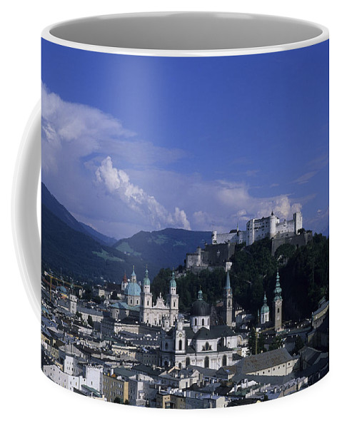 Salzburg Coffee Mug featuring the photograph A View Of The City Of Salzburg From An by Taylor S. Kennedy