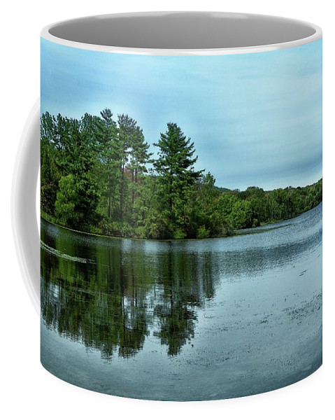Lake Nockamixon Coffee Mug featuring the photograph A View Of The Lake by James DeFazio