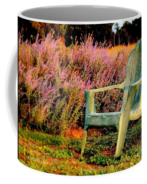 Heather Coffee Mug featuring the photograph A Visit With Heather by Patricia L Davidson