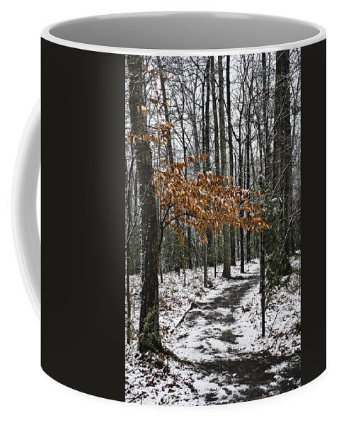 Snow Coffee Mug featuring the photograph A Walk In The Snow Quantico National Cemetery by Teresa Mucha