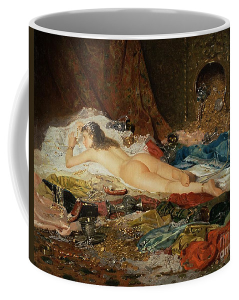 Wealth Coffee Mug featuring the painting A Wealth Of Treasure by Della Rocca