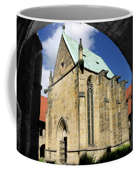 Architecture Coffee Mug featuring the photograph A Window Through Time by Frederic A Reinecke