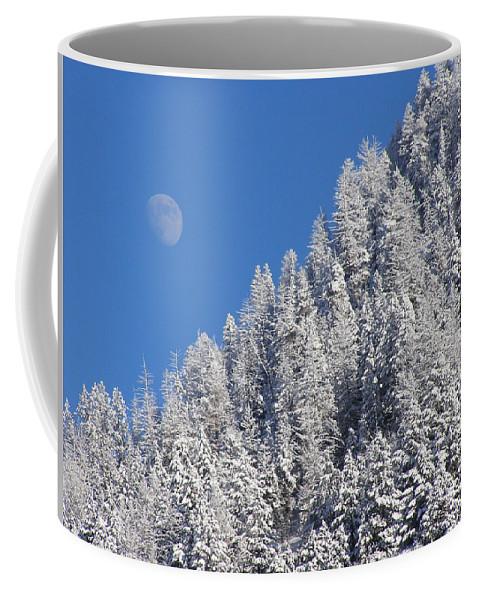 Winter Coffee Mug featuring the photograph A Winter Moon by DeeLon Merritt