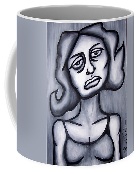 Portait Coffee Mug featuring the painting A Woman by Thomas Valentine
