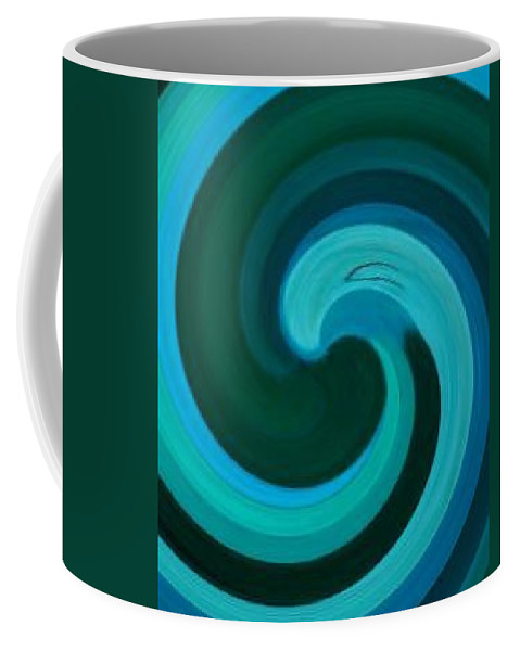 Continuious Coffee Mug featuring the digital art A77 by Andrew Johnson