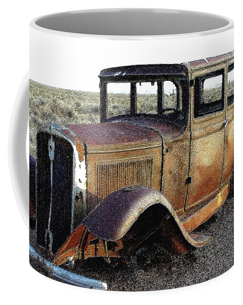 Arizona Coffee Mug featuring the photograph Abandonded Along Rt 66 by Nelson Strong