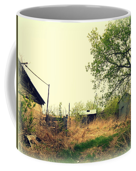 Abandoned Coffee Mug featuring the photograph Abandoned Farm Yard by Curtis Tilleraas