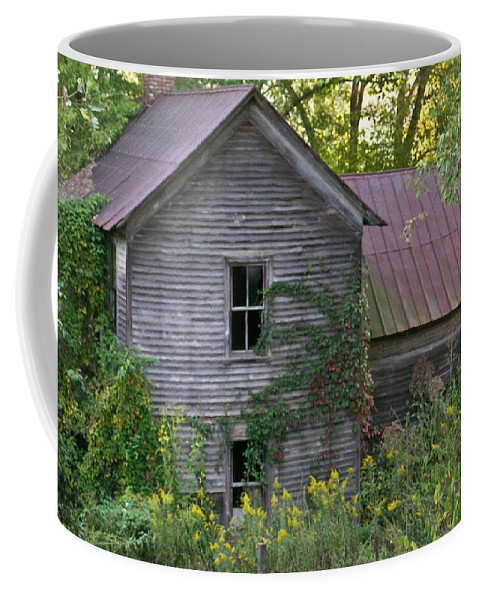 Morgan Coffee Mug featuring the photograph Abandoned Farmhouse On Stacy Fork by Douglas Barnett