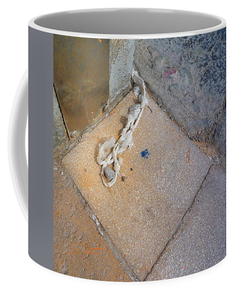 Fishing Net Coffee Mug featuring the photograph Abandoned Fishing Knot by Charles Stuart