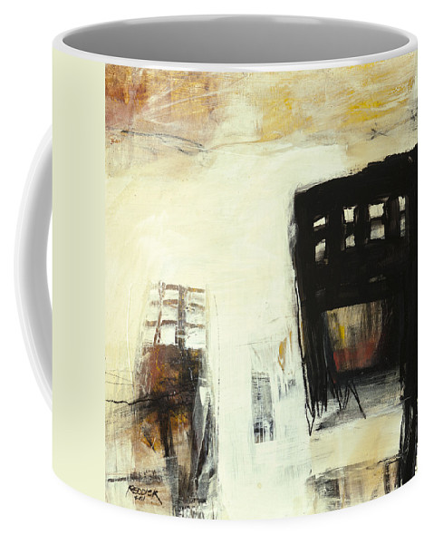 Abstract Coffee Mug featuring the painting Abandoned by Gary Reddick