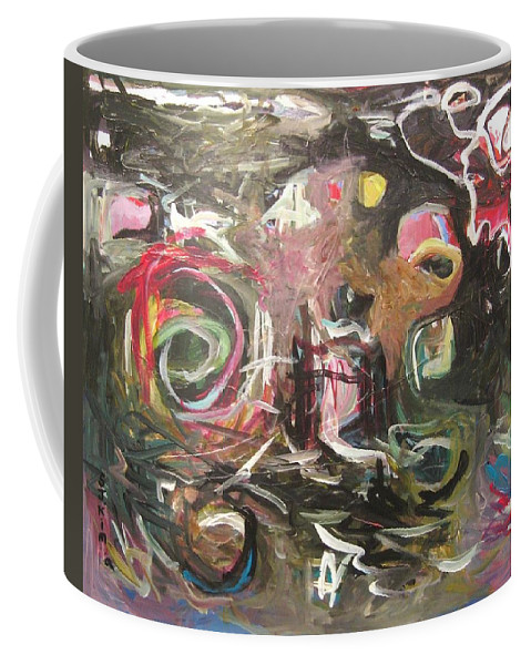 Abstract Paintings Coffee Mug featuring the painting Abandoned Idea2 by Seon-Jeong Kim