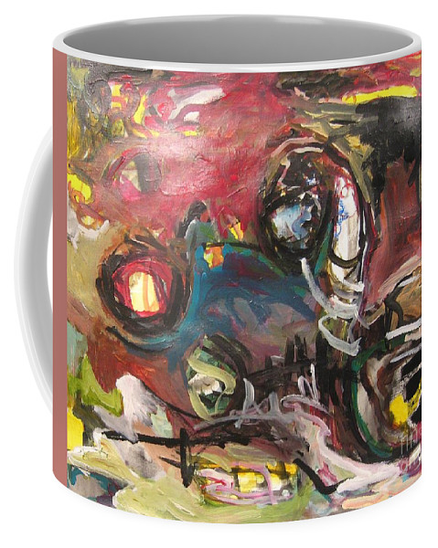 Abstract Paintings Coffee Mug featuring the painting Abandoned Ideas by Seon-Jeong Kim