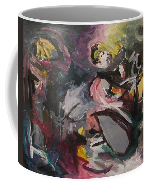 Abstract Paintings Coffee Mug featuring the painting Abandoned Ideas4 by Seon-Jeong Kim