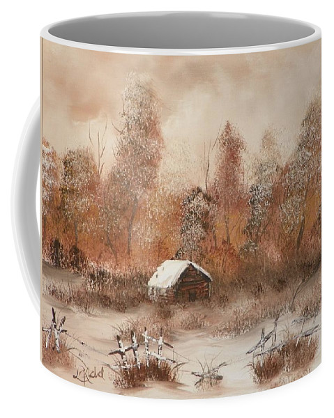 Trees Coffee Mug featuring the painting Abandoned by Laurie Kidd