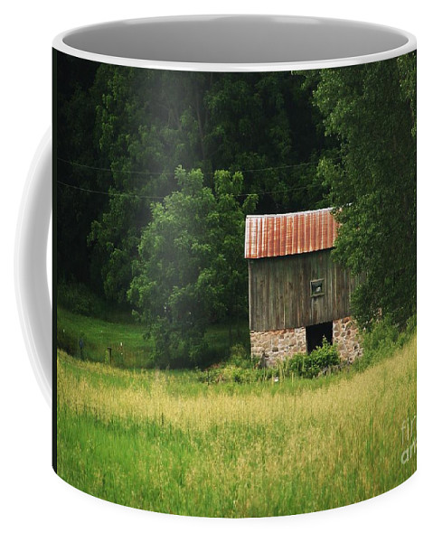 Old Barns Coffee Mug featuring the photograph Abandoned by Marilyn Smith