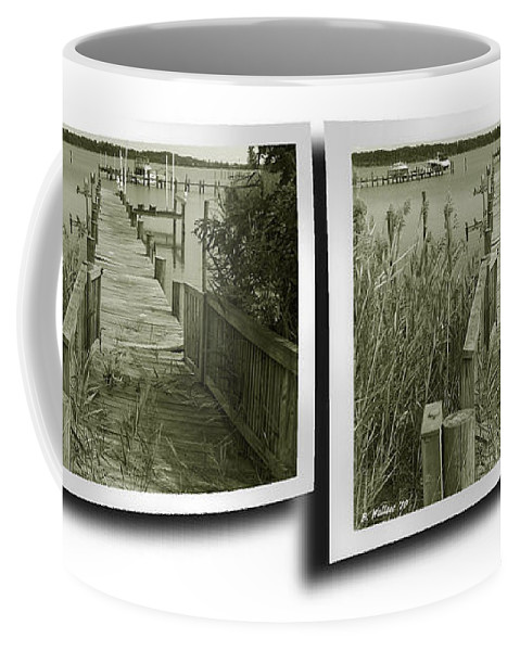 3d Coffee Mug featuring the photograph Abandoned Pier - Gently cross your eyes and focus on the middle image by Brian Wallace
