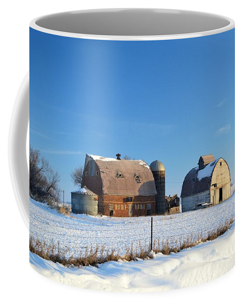 Rustic Coffee Mug featuring the photograph Abandoned Winter by Bonfire Photography