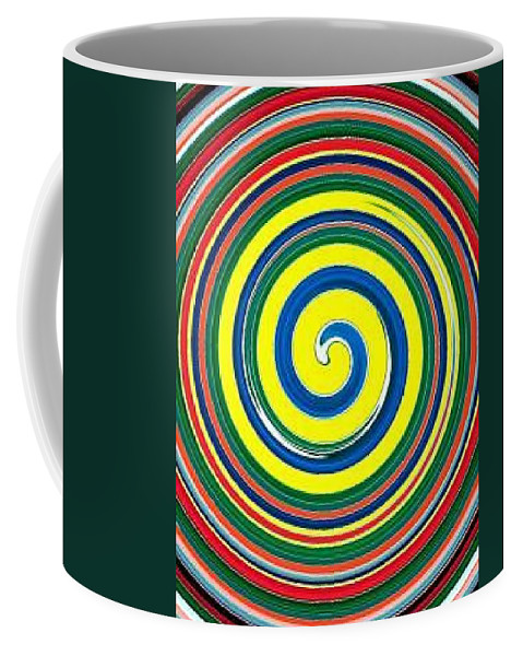 Digital Spiral Coffee Mug featuring the painting Abb1 by Andrew Johnson